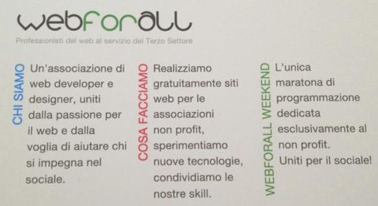 WebForAll – live blog