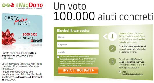 """Il tuo Voto è un aiuto concreto con """"ilMioDono"""""""