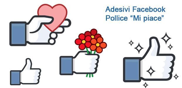 "Adesivi Facebook Pollice ""Mi piace"" e ""Non mi piace"""
