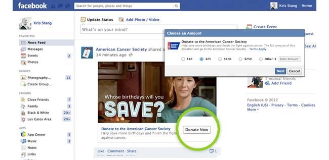 """Il Pulsante """"Dona ora"""" di Facebook"""