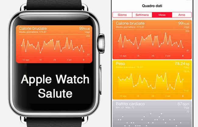 """Applicazione """"Salute"""" Apple Watch"""
