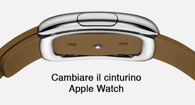 Sostituzione cinturino Apple Watch
