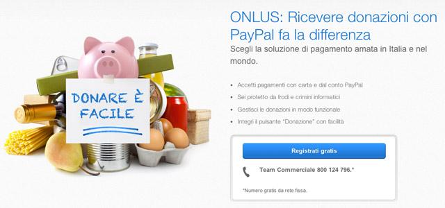 Donazioni PayPal per le Onlus in Italia