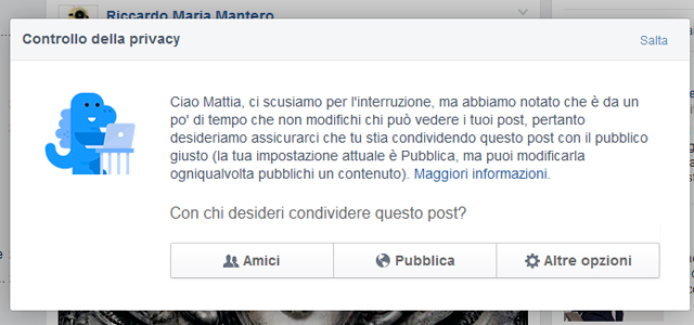 Come controllare la privacy su Facebook