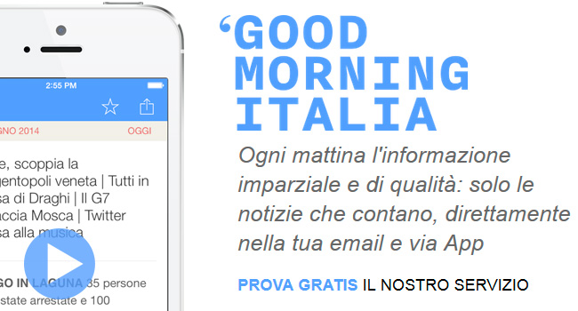 Good Morning Italia applicazione iphone