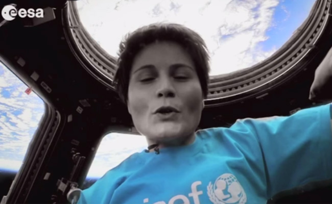 Samanthe Cristoforetti Imagine Unicef