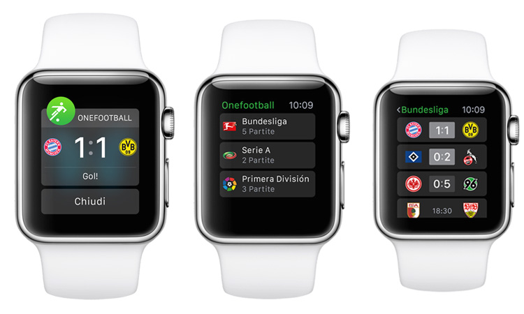 Applicazione Onefootball per Apple Watch