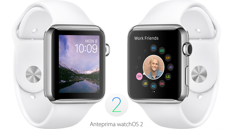 "Sistema operativo ""watchOS 2"" per Apple Watch"