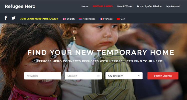 Refugee Hero, la piattaforma online per migranti e rifugiati in stile Airbnb