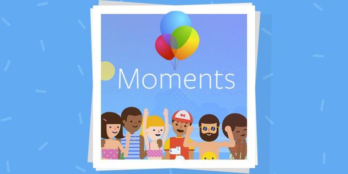 Moments l'app Facebook per condividere le foto