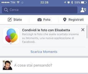 Facebook moments scarica app