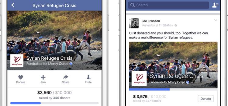 Facebook strumento donazione