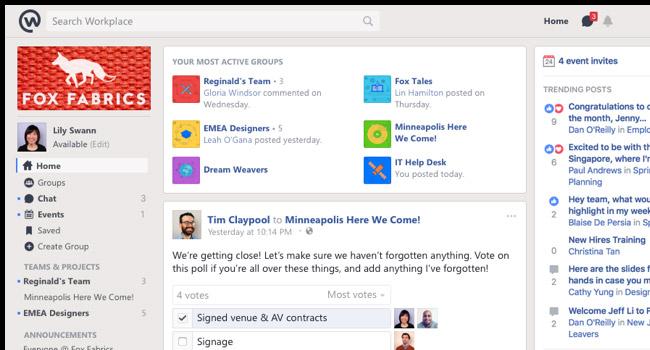 Workplace di Facebook per il Non profit