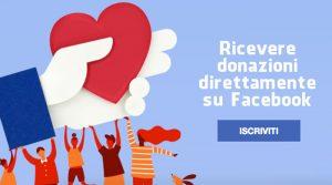 Come ricevere donazioni direttamente su Facebook