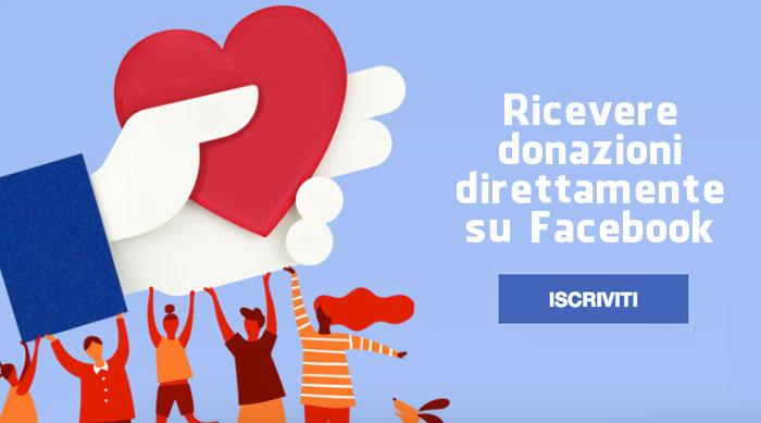 Ricevere donazioni direttamente su Facebook