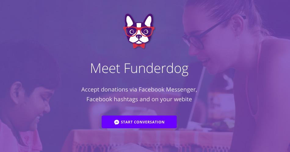 Funderdog per accettare donazioni via Facebook Messenger