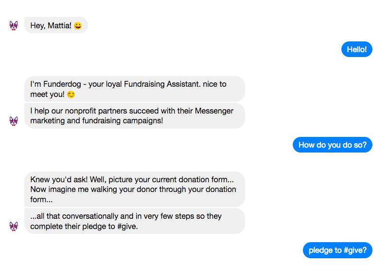 Ricevere donazioni su Messenger con Funderdog