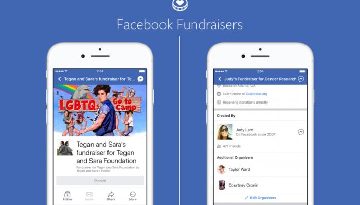 Facebook Fundraising per pagine e personaggi pubblici