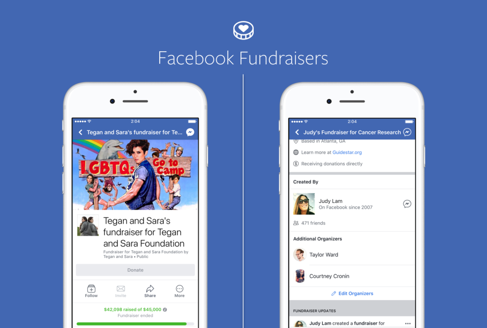 Fundraising direttamente dalle pagine Facebook
