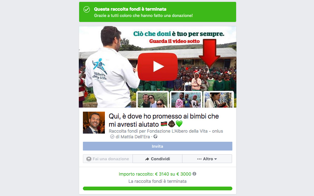 Facebook Fundraising di Mattia Dell'Era
