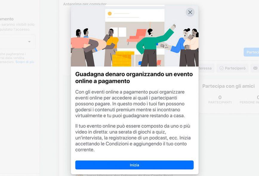 Raccogliere fondi utilizzando gli eventi Facebook a pagamento